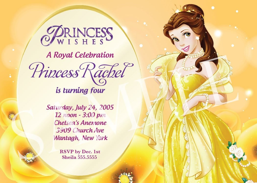Disney Birthday Invitation Template