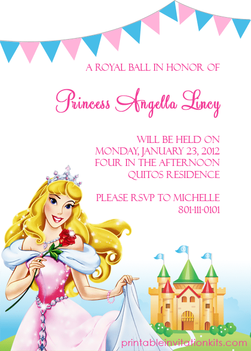 Disney Birthday Invitation Templates Free