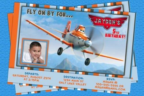 Disney Planes Birthday Invitation Template