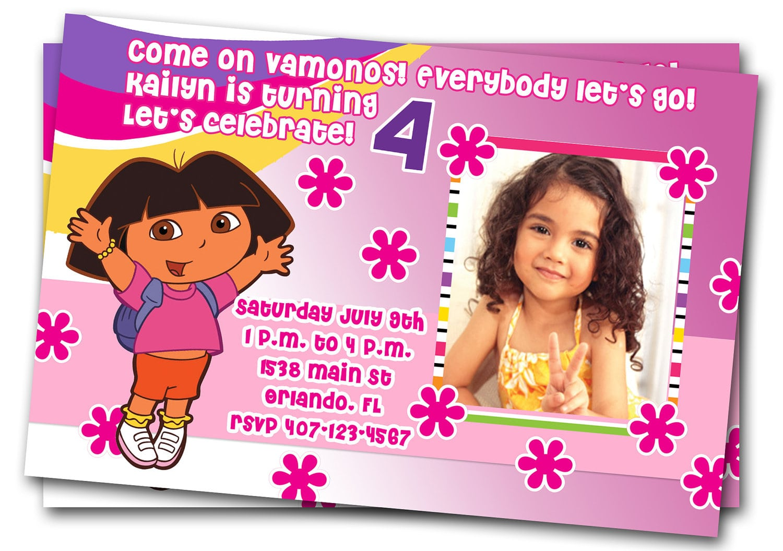 Dora Printable Invitations Free