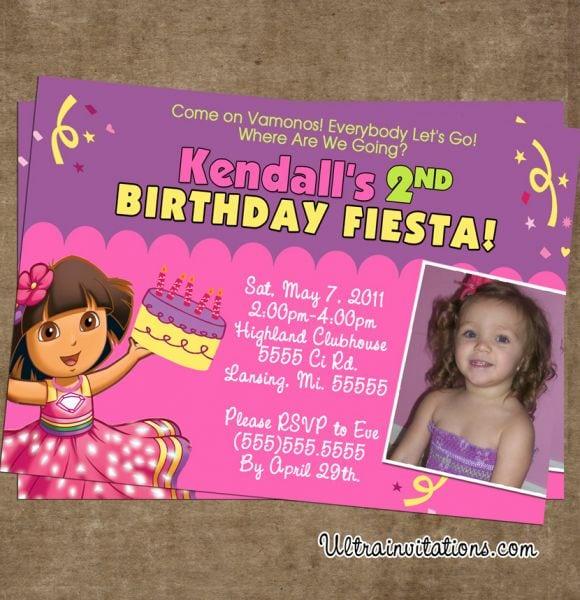 Dora The Explorer Free Birthday Invitations