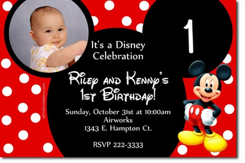 Download Mickey Mouse Birthday Invitations