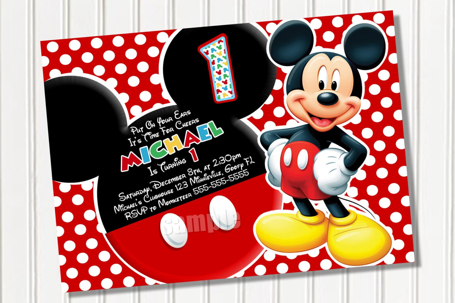 Download Mickey Mouse Invitations