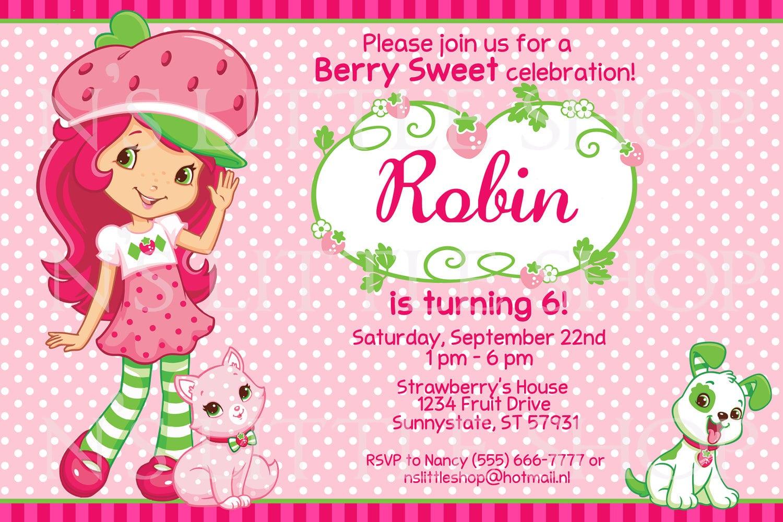 Download Strawberry Shortcake Invitation Free