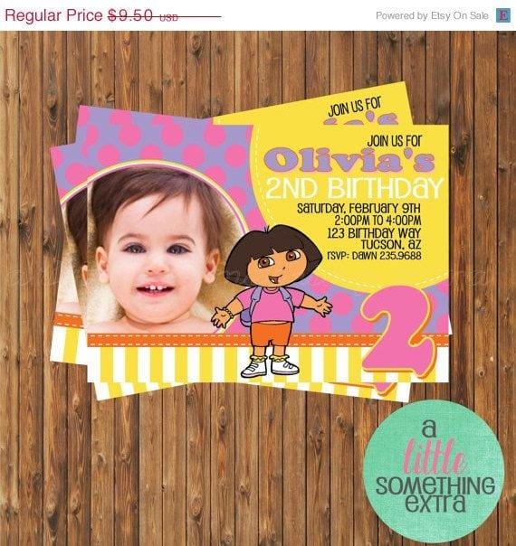 Downloadable Dora Invitations