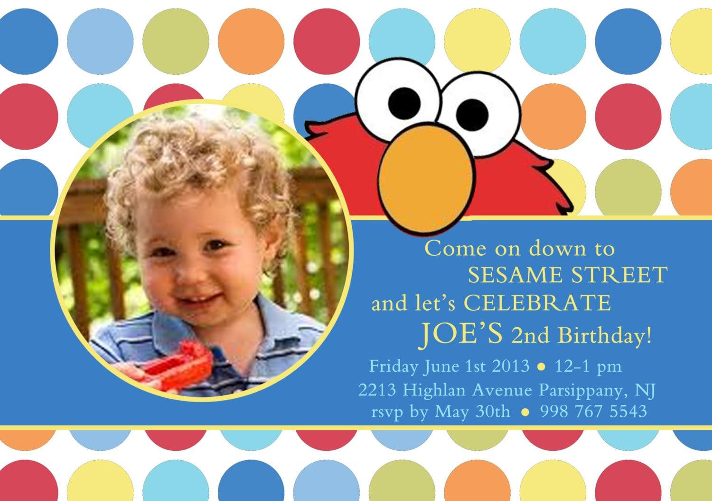 Elmo Photo Invitation