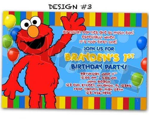 Elmo Printable Party Invitations
