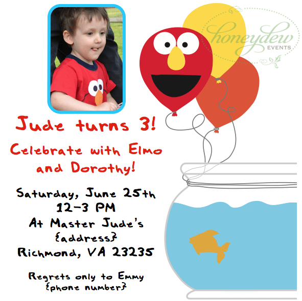 Elmo Ticket Invitation Template