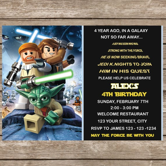 Email Invitation Star Wars Lego