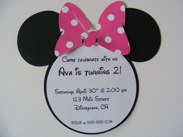 Email Minnie Mouse Invitation Template Free