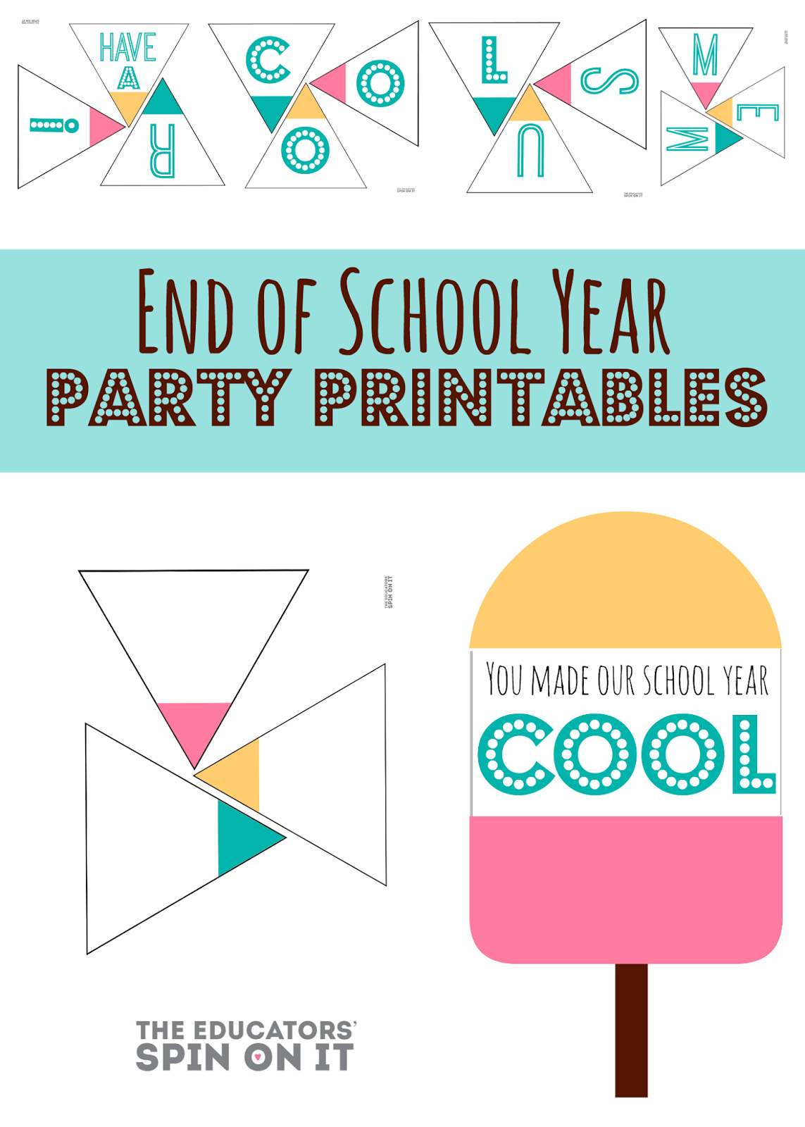 End Of School Party Invitation Templates