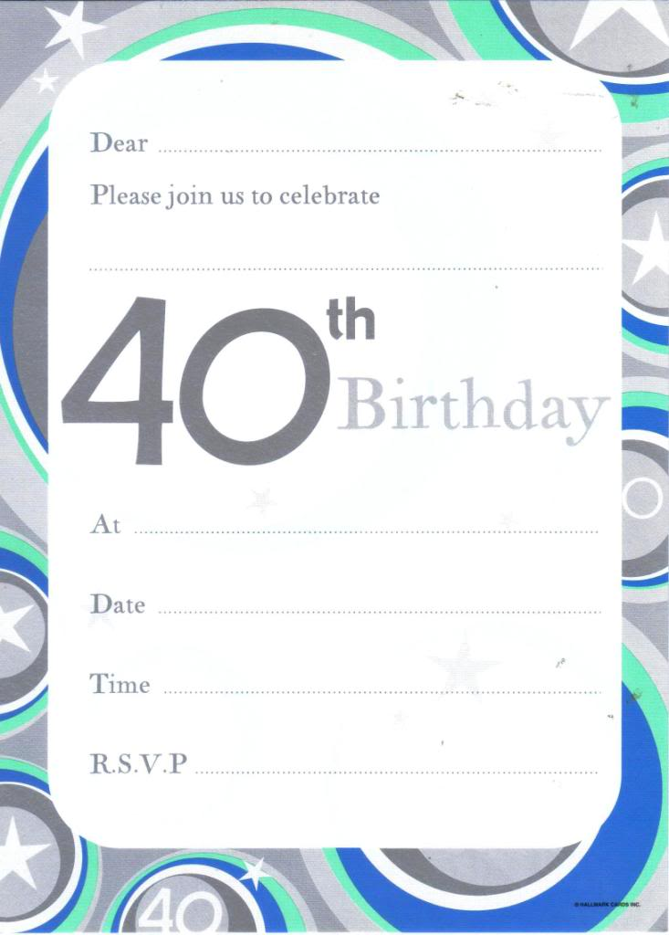 Template For 40 Th Birthday Invitation einmaleinshaus – Birthday Invitation Templates Word Free