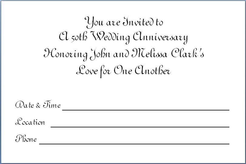 60th Wedding Anniversary Invitation Templates 60th Wedding – 50th Wedding Anniversary Invitation Templates