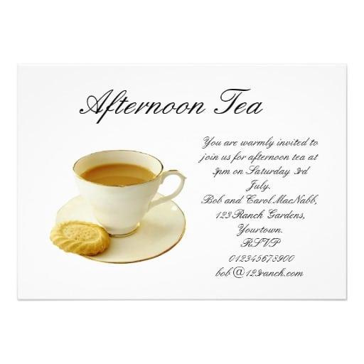 Free Afternoon Tea Invitation