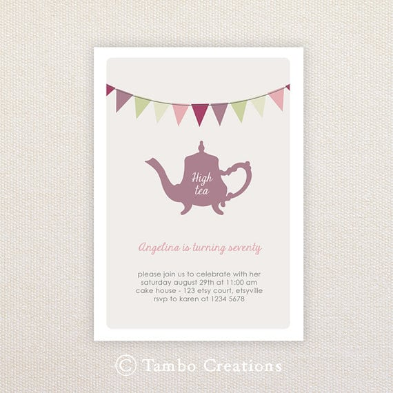 Free afternoon tea invitation for Morning tea invitation template free