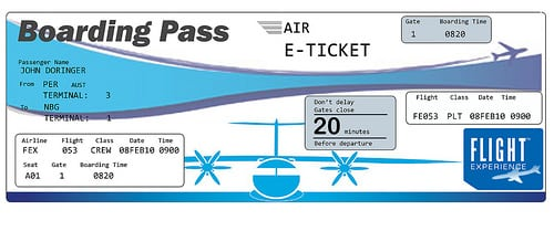 Free Airline Ticket Invitation Template
