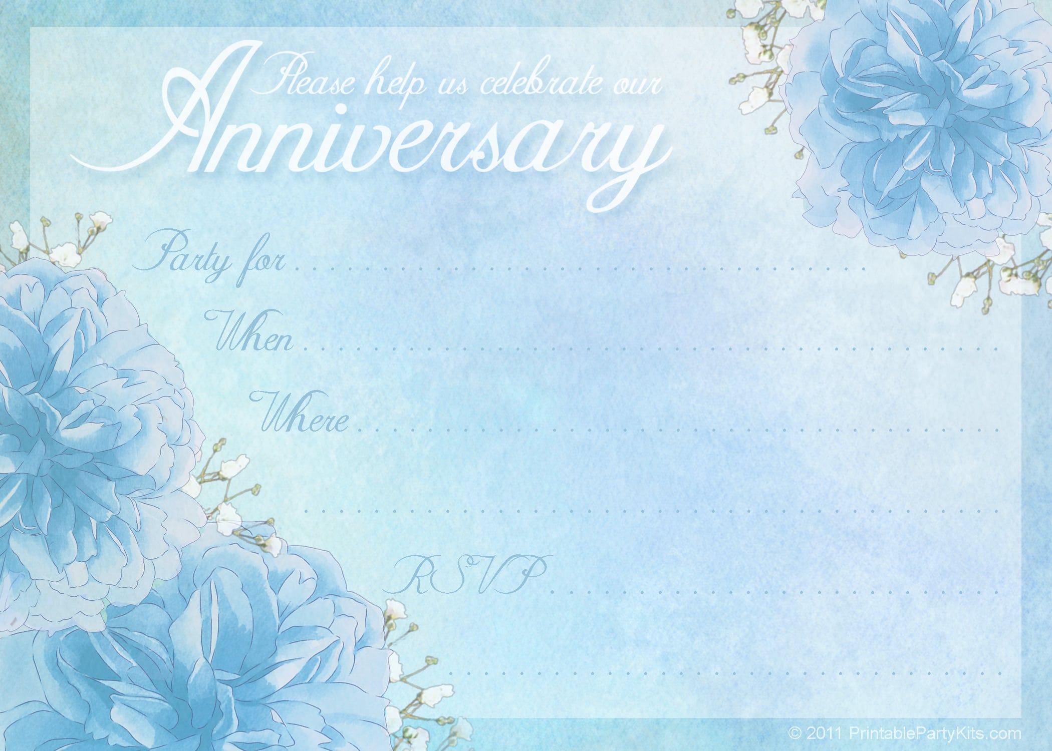 Free anniversary invitation template for word download stopboris Choice Image