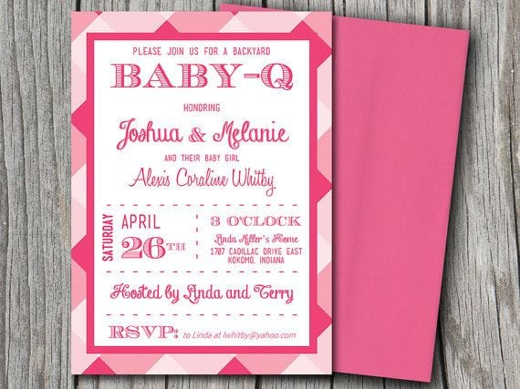 Free Baby Q Invitation Template