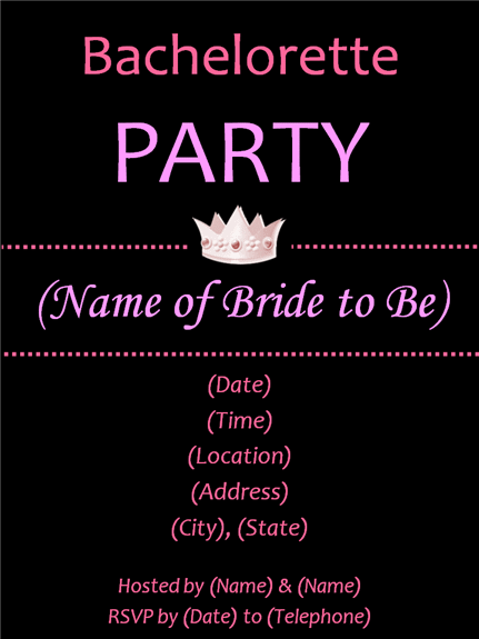 Free Bachelorette Party Invitation Templates