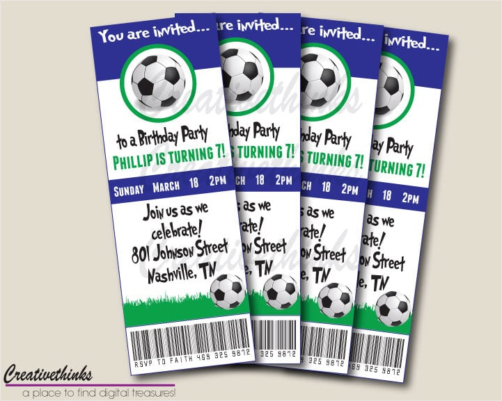 Free Birthday Invitation Soccer