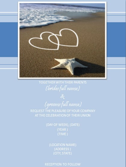 Free Birthday Invitation Templates Beach Theme