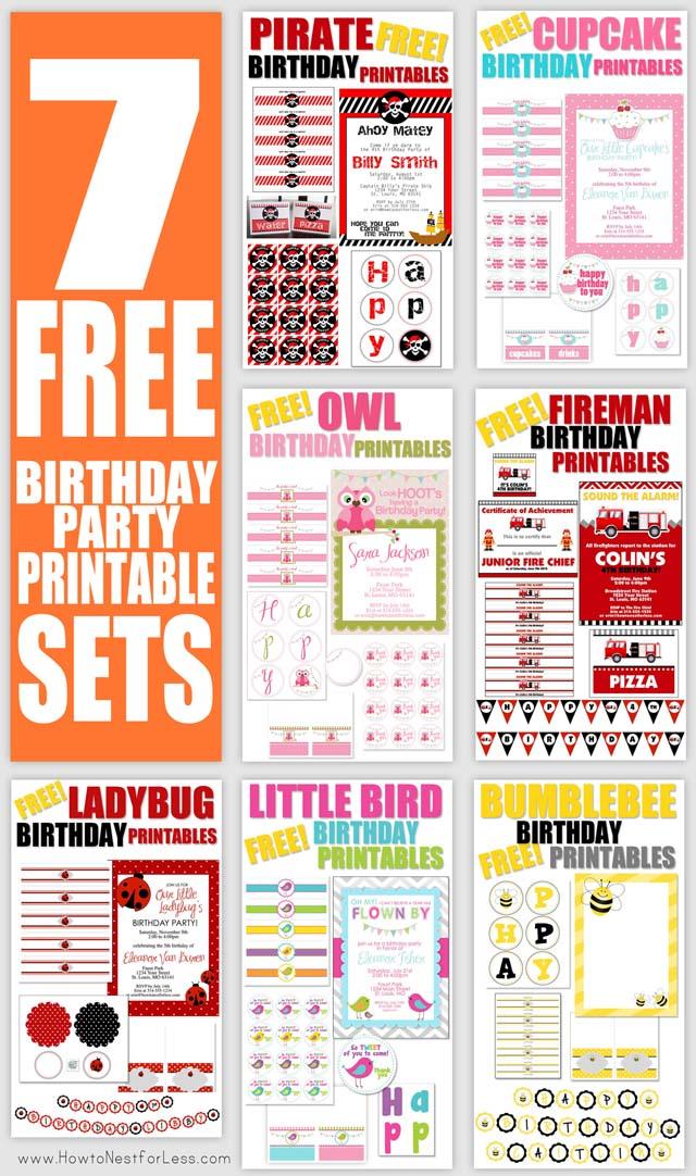 Free Birthday Party Invitation Printables