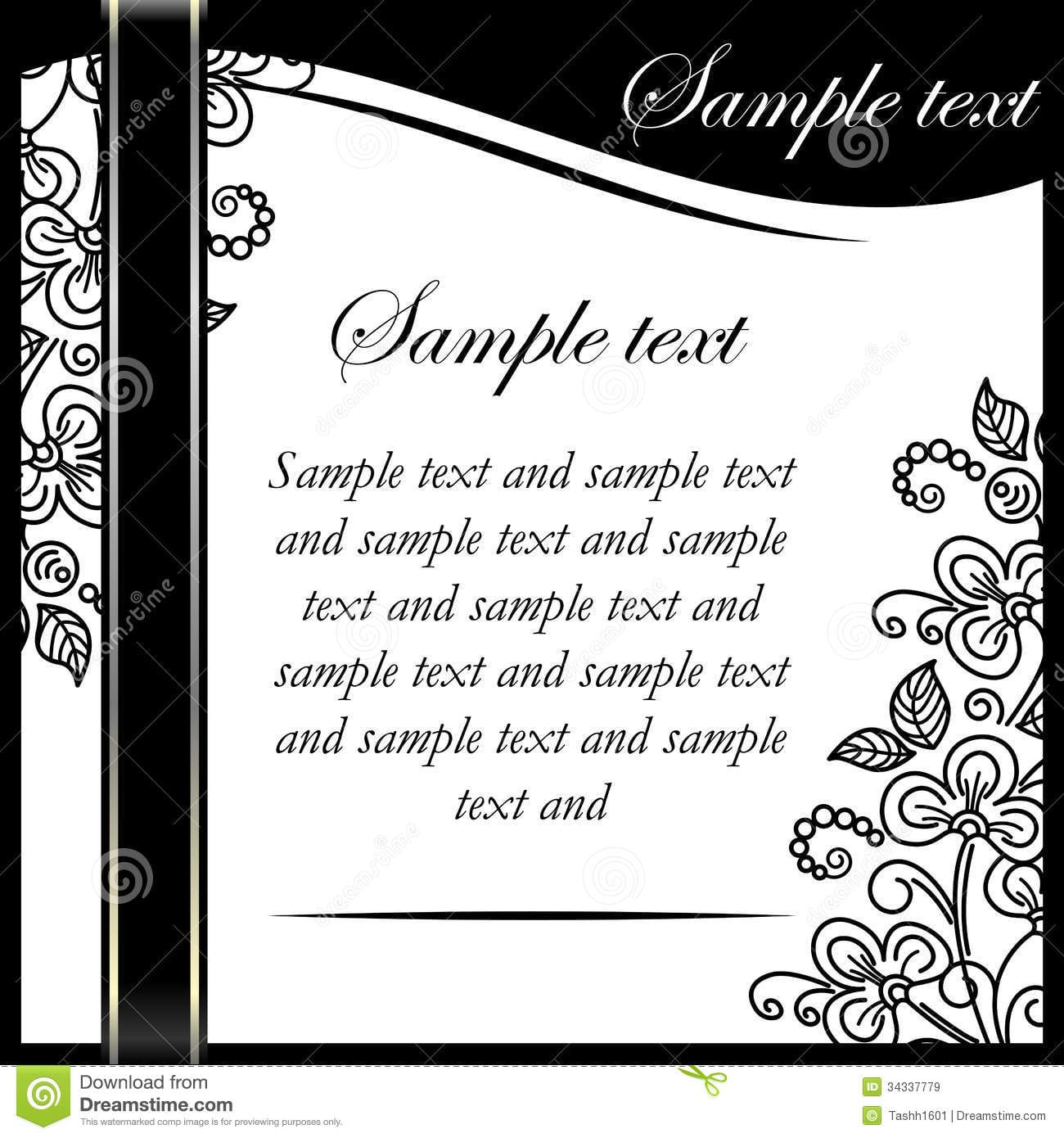 black and white birthday invitation templates - Keni ...