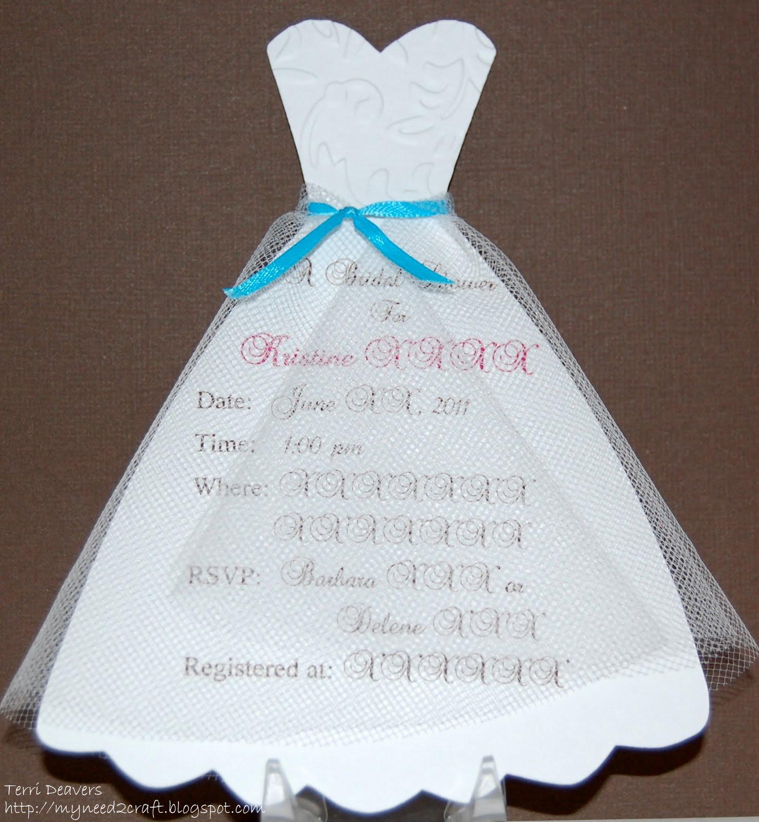 Free Bridal Dress Wedding Invitation Template