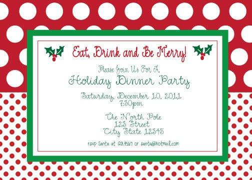 Free Christmas Party Invitation Printable