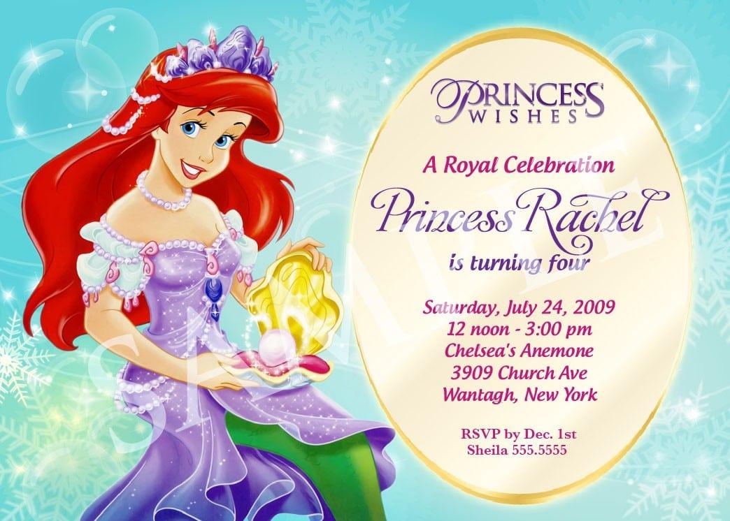 free princess birthday invitation templates
