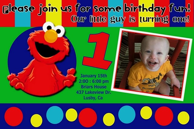 Free Elmo Pool Party Invitation Template