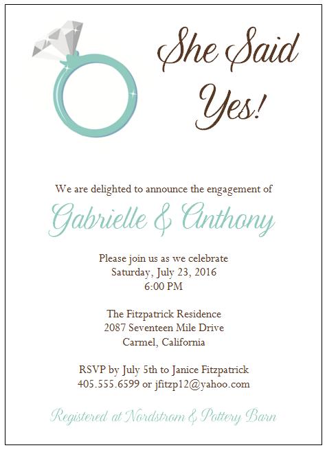 Free Engagement Invitation Cards