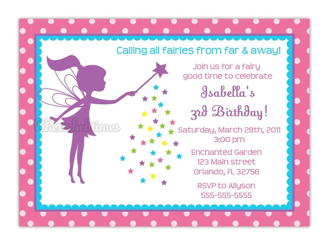 Free Fairy Party Invitations