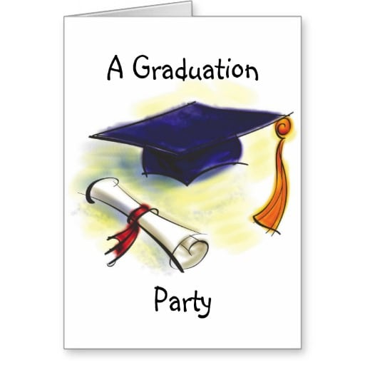 Free Graduation Party Template Invitation Card