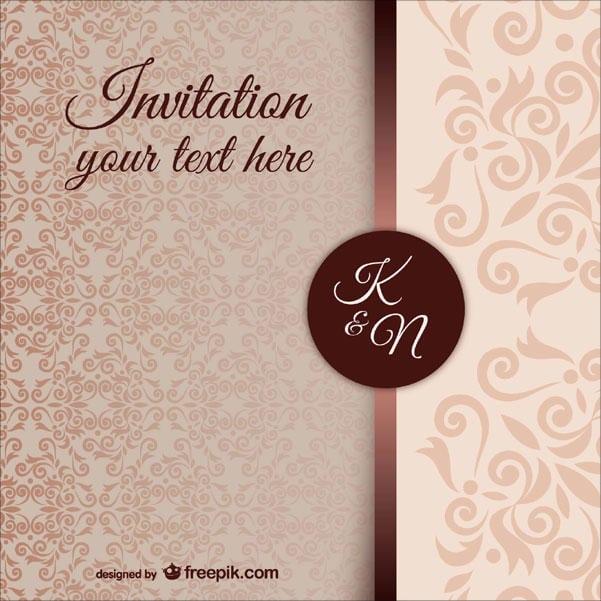 Free Halloween Pattern Wedding Invitation Template
