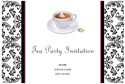 Free High Tea Invitation Template For Word