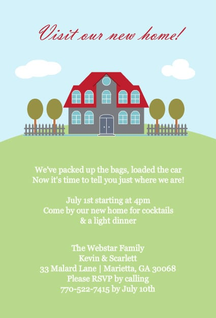 housewarming party invites free template - free housewarming template invitation
