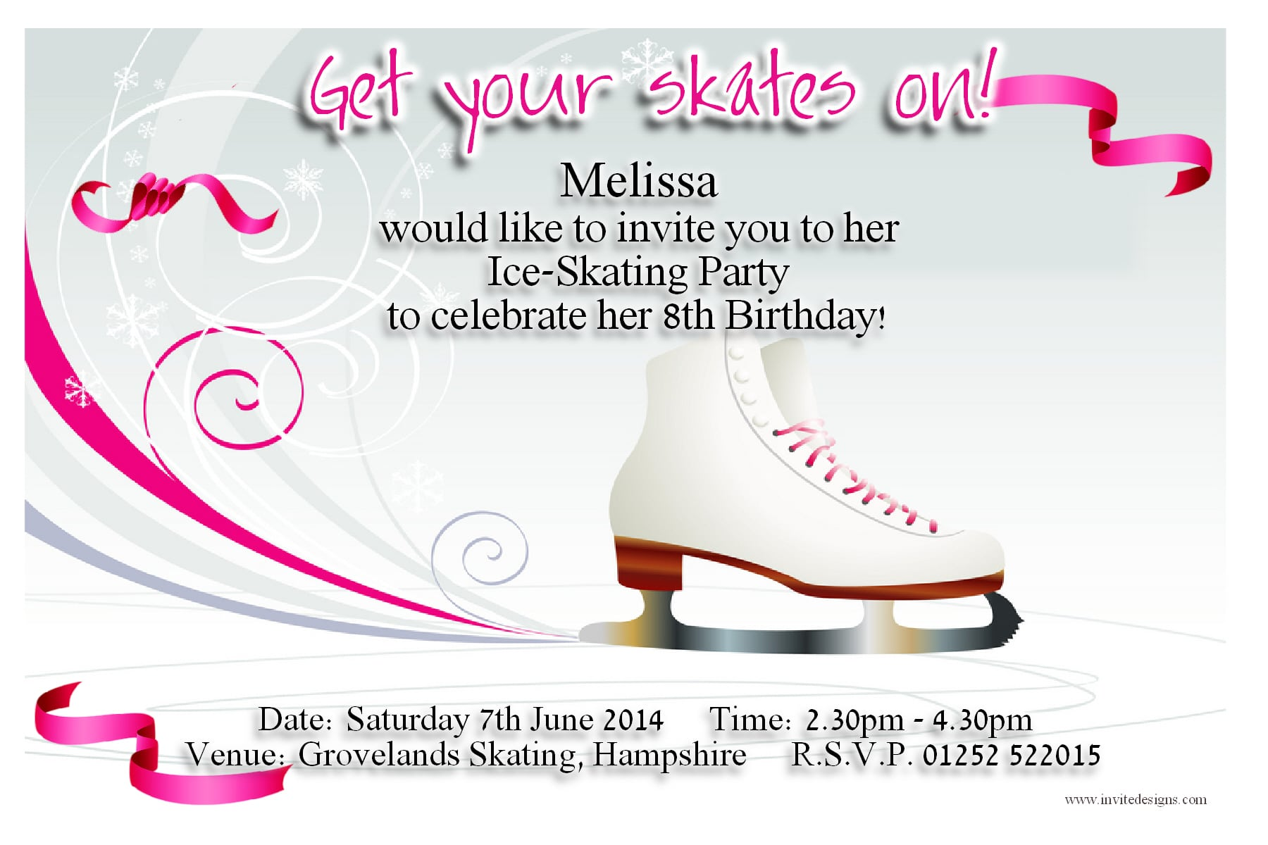 Free Skating Invitation Template
