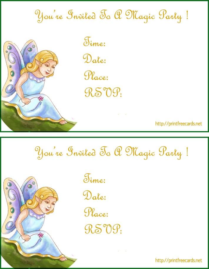 Free Invitation Cards To Print