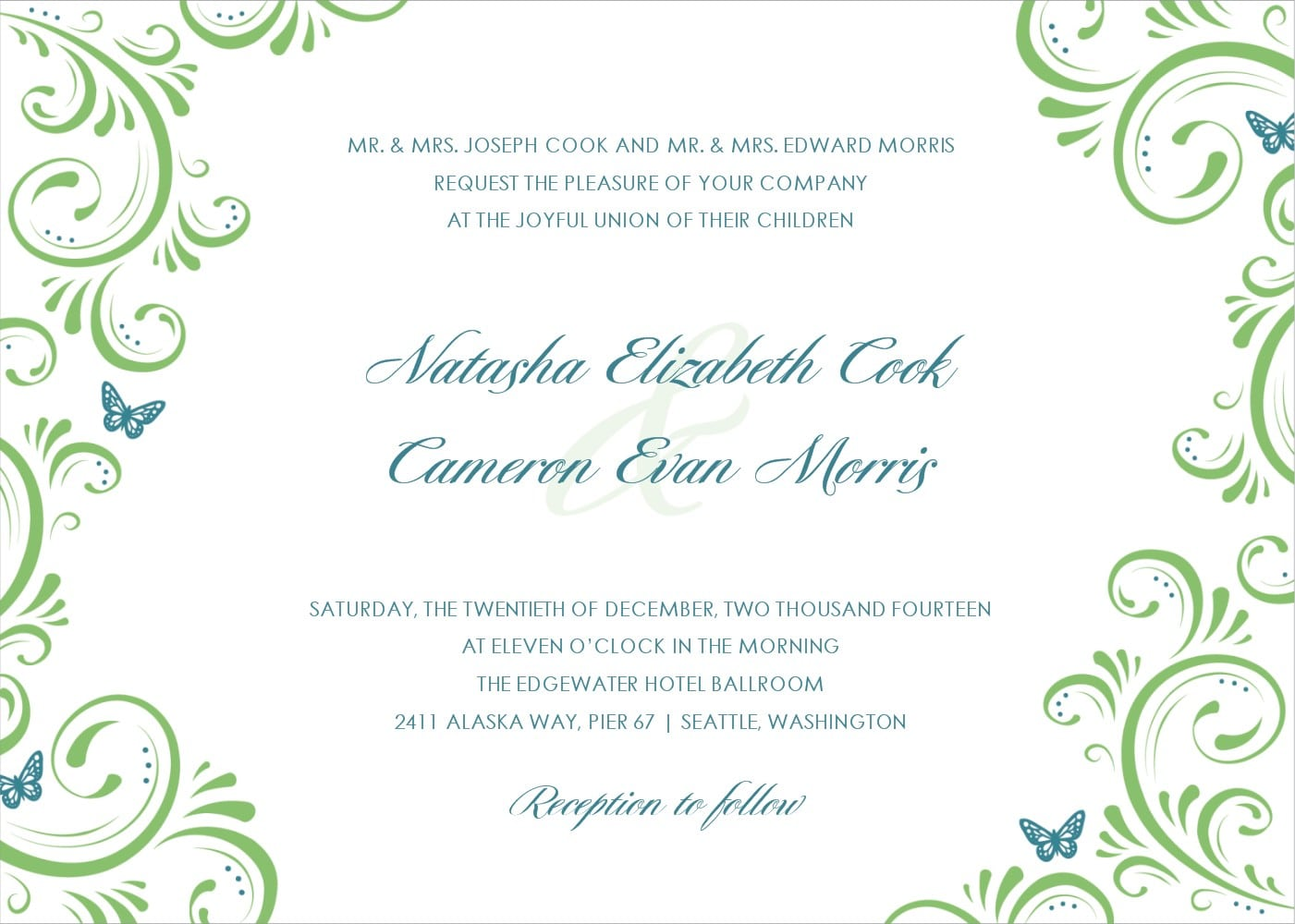 Free Invitation Template Download Wedding