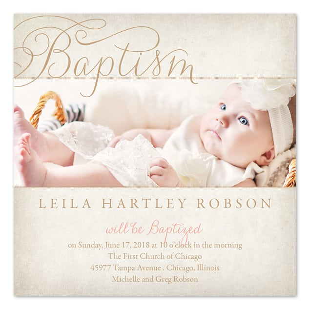 Free Invitation Template For Baptism