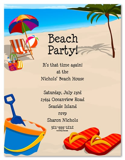 Free Invitation Templates Beach