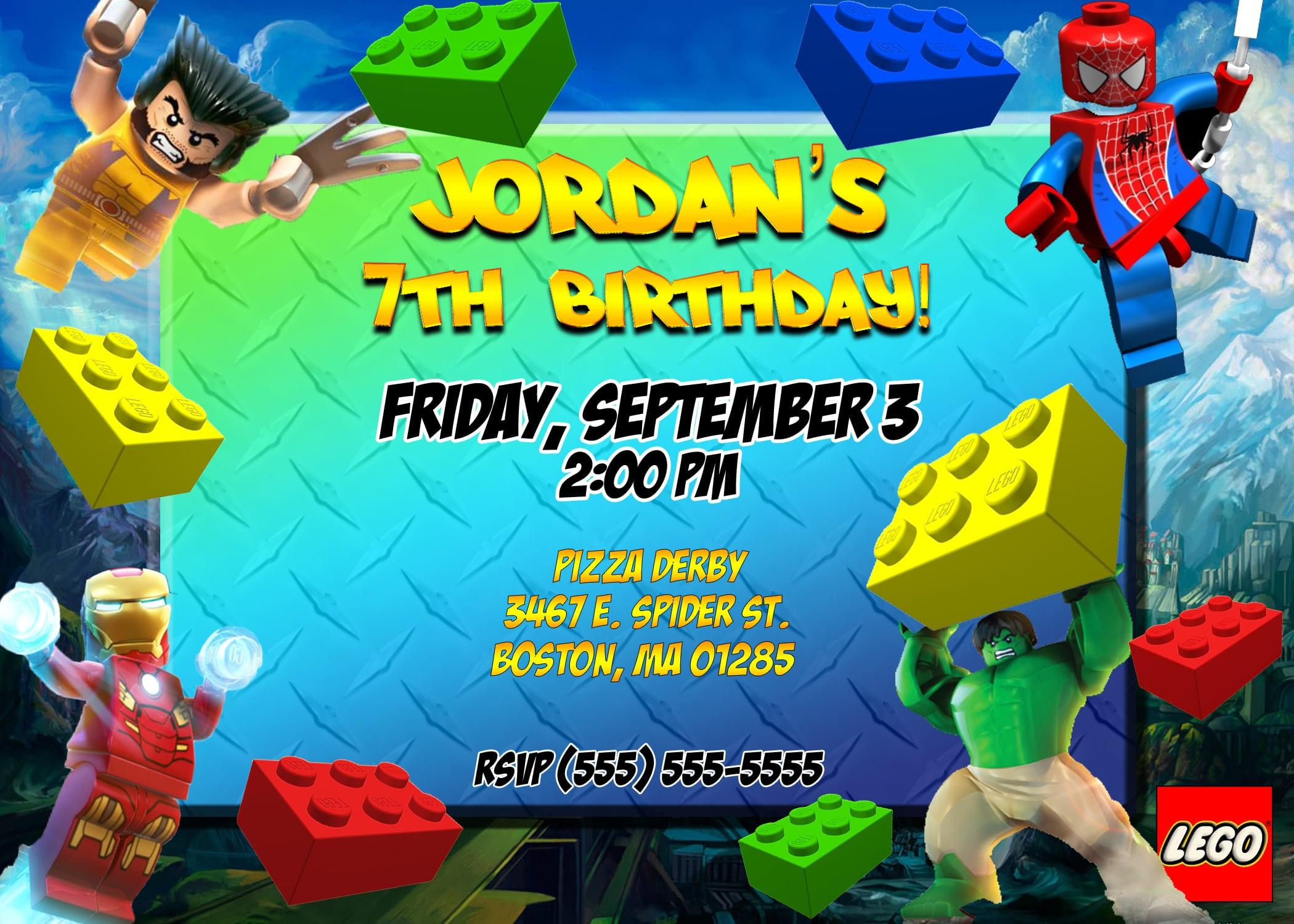 Free Lego Birthday Party Invitation