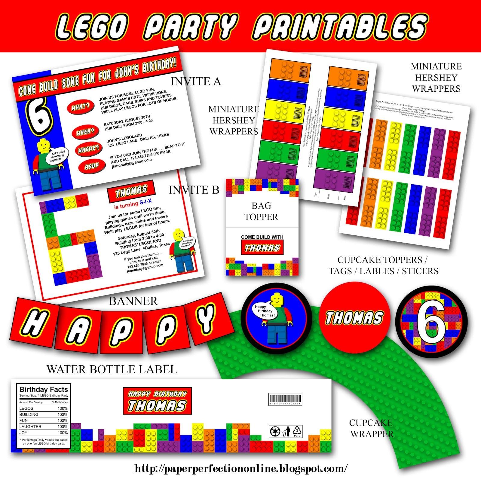 Free Lego Birthday Party Invitation Templates