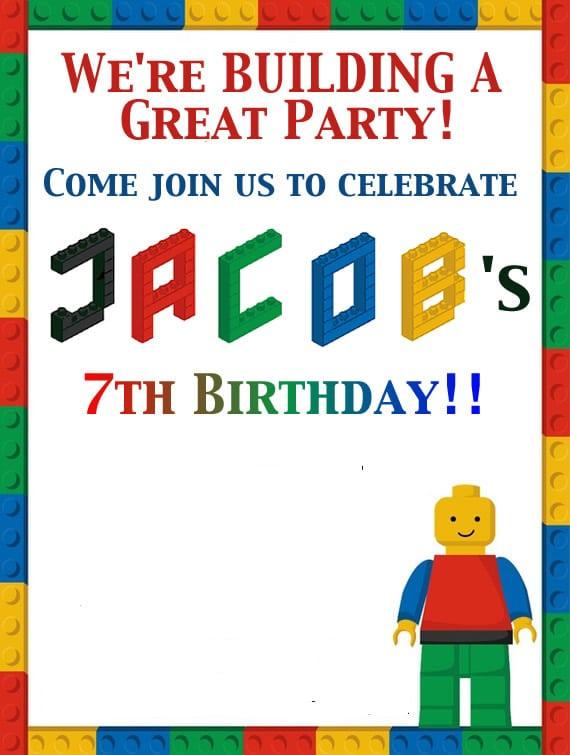 Free Lego Invitation Template