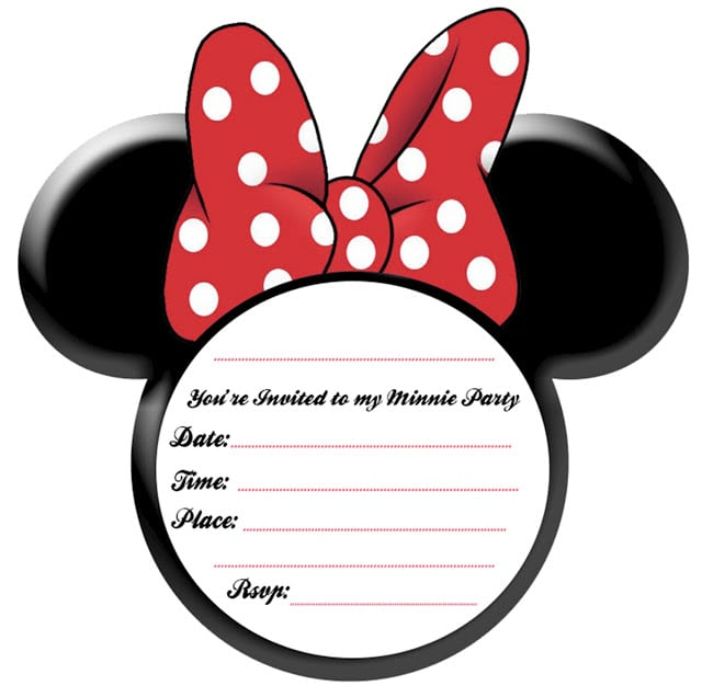 Free Minnie Mouse Birthday Email Invitation