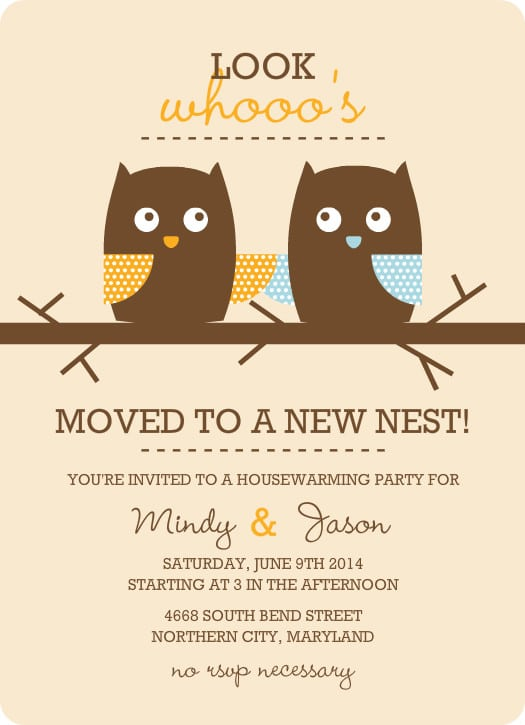 Free Online Housewarming Invitation Template
