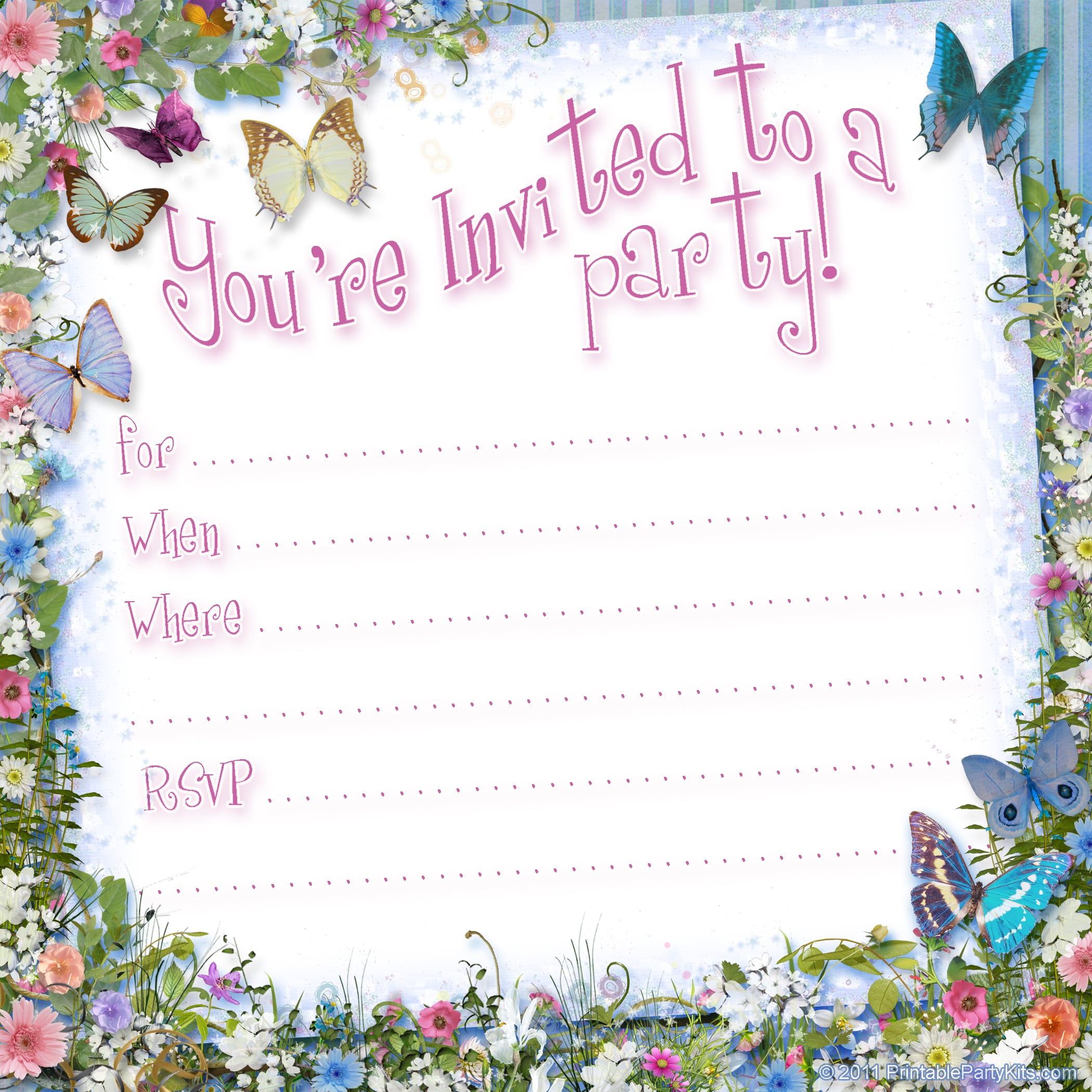 Free Party Invitation To Print