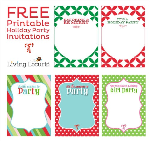 Free Party Invitations To Print