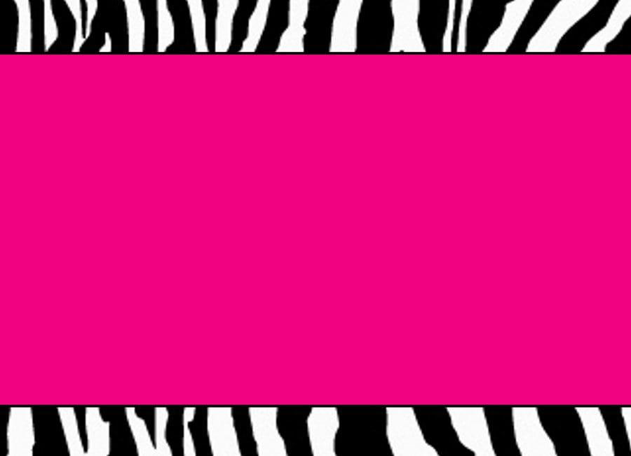 Free Pink Zebra Baby Shower Invitation Template